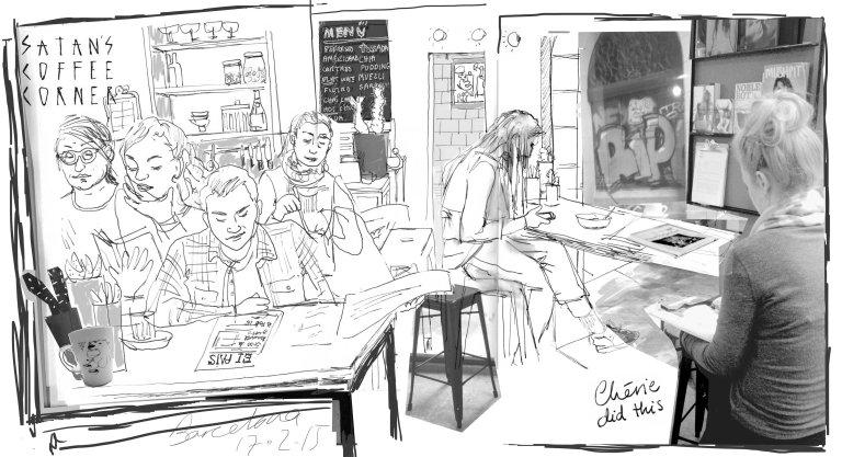satan's coffee corner by cherie