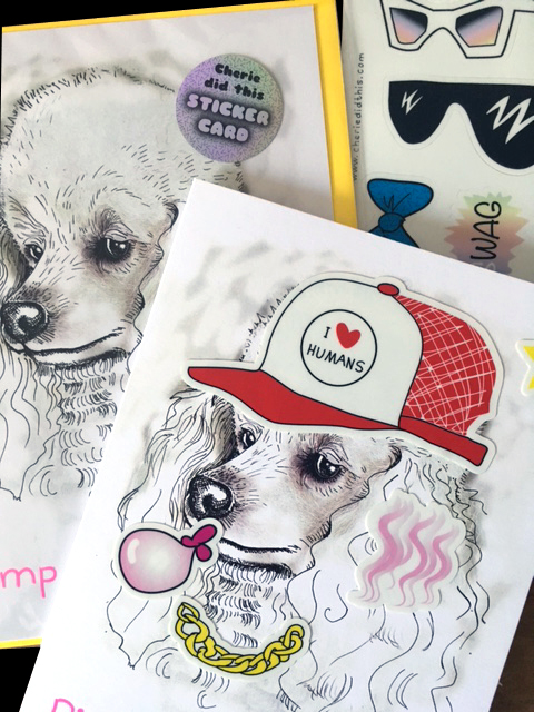 Pimp my Poodle = Sticker Card