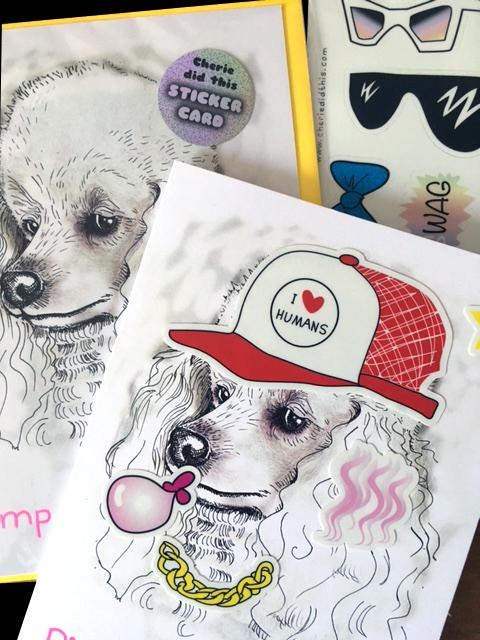 Pimp my Poodle = Sticker Card