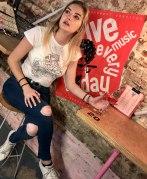 Hannah wears Rose T-Shirt